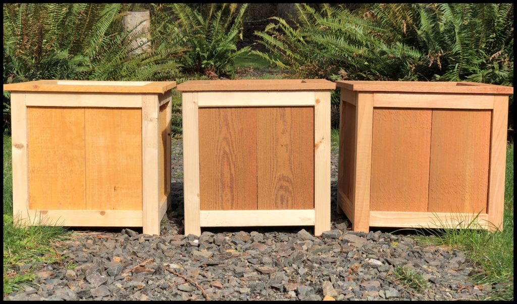 wooden garden planters in multiple style