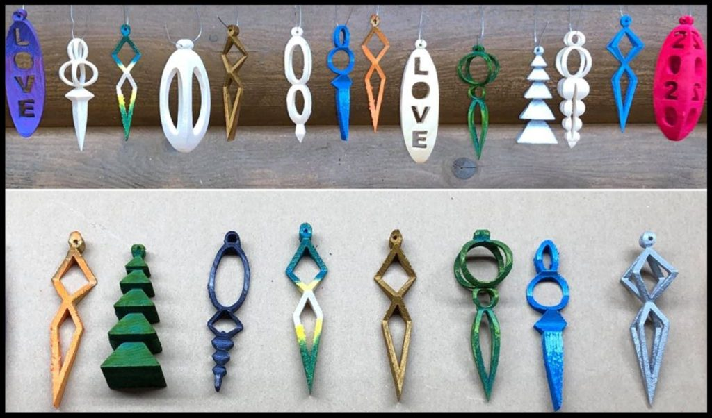 3D wooden christmas ornaments